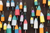 colorful buoys by Kelly Christine
