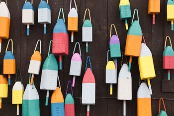 colorful buoys