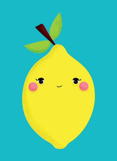 art prints - Happy Little Lemon - Fruit Series by Hello Happy Studio