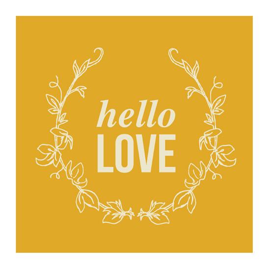art prints - Hello Love by Lori Lay