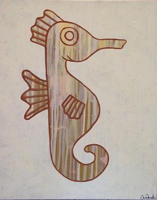 art prints - Drip Seahorse by Carrie Fiorella