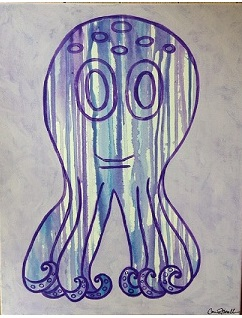 art prints - Drip Octopus by Carrie Fiorella