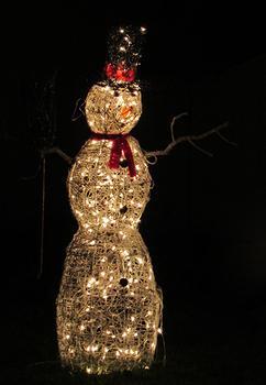 Nighttime Snowman
