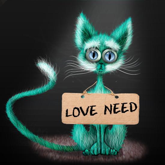 art prints - sad cat by Litviak Tetiana