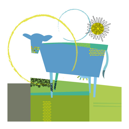 art prints - Sunshine Cow by Marjie Best