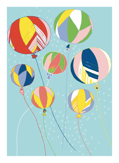 art prints - Festival Ballons by Jessie G