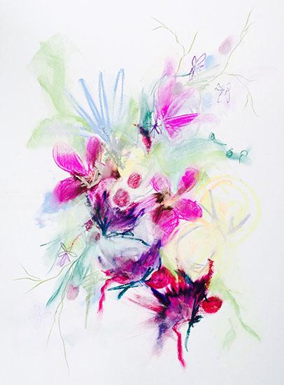 art prints - Magenta Cluster by Sarah Nobles