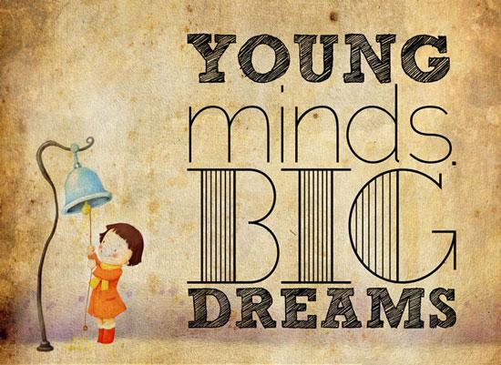 art prints - young minds big dreams by Reynan Racaza