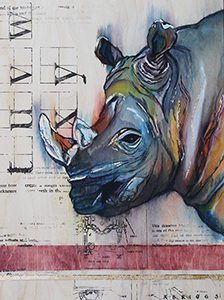 art prints - Solemn Rhino by Robyn Briggs