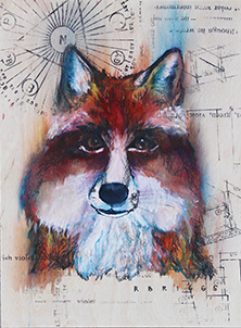 art prints - Colorful Fox by Robyn Briggs