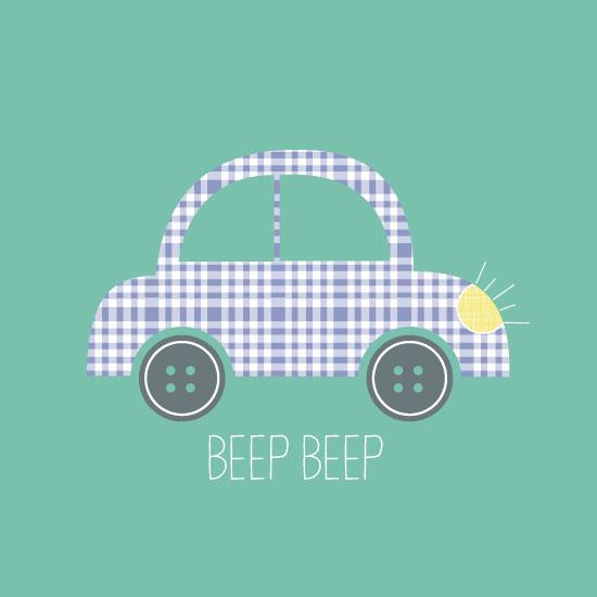art prints - Beep Beep by Anastasia B. Kijewski