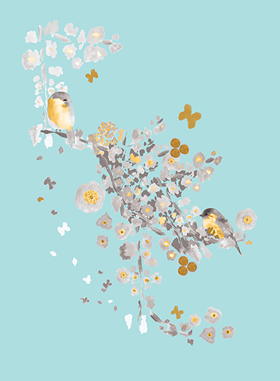 art prints - Blossom Birds by Acadreamia Designs