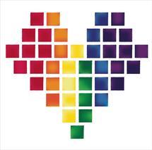 Rainbow Heart by Brandy Kesl l ABK design
