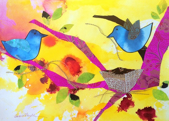 art prints - Bird Family by Grace Modla