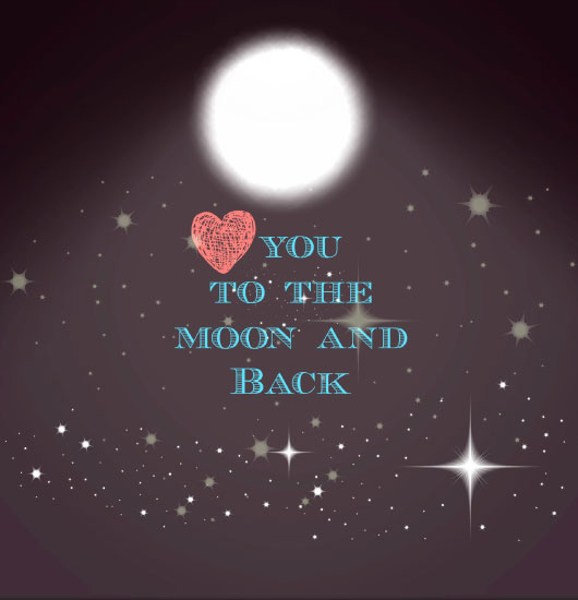 art prints - Love You to the Moon and Back by Anubha