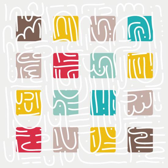 art prints - Funny Squares by Marina Markova
