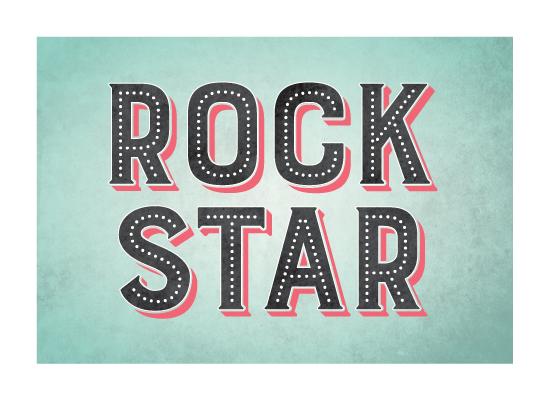art prints - Rock Star by Ever Upward Studio