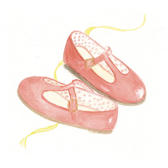 art prints - Real Red T-Straps by Julie and Sara