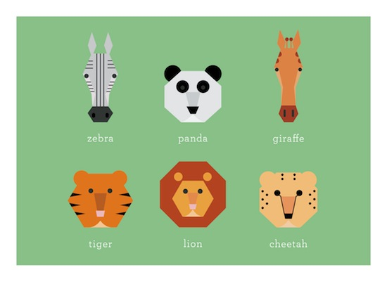 art prints - Lions & Tigers & Bears by Designerly