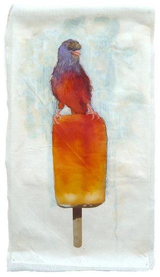 art prints - Orange Canary Pop by Cleo Papanikolas