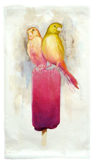 art prints - Raspberry Canary Pop by Cleo Papanikolas