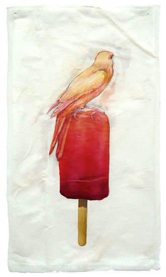 art prints - Strawberry Canary Pop by Cleo Papanikolas