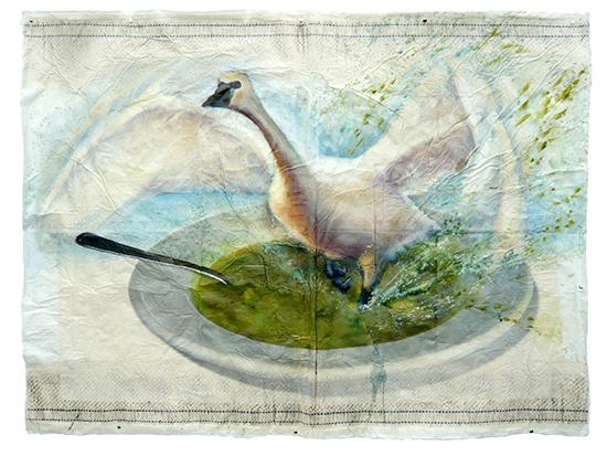 art prints - Swan Soup by Cleo Papanikolas