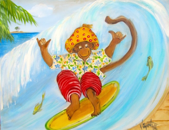 art prints - Hang Ten by Diane Voyentzie