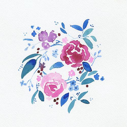 art prints - Floral Arrangement by Adrianna Vanderstelt