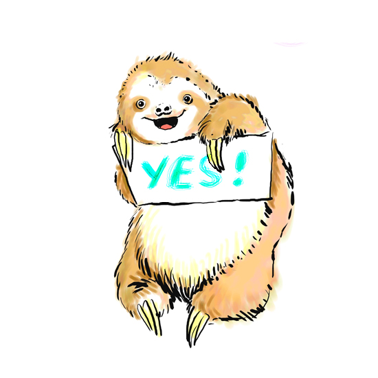 art prints - Yes baby sloth by Shom Teoh