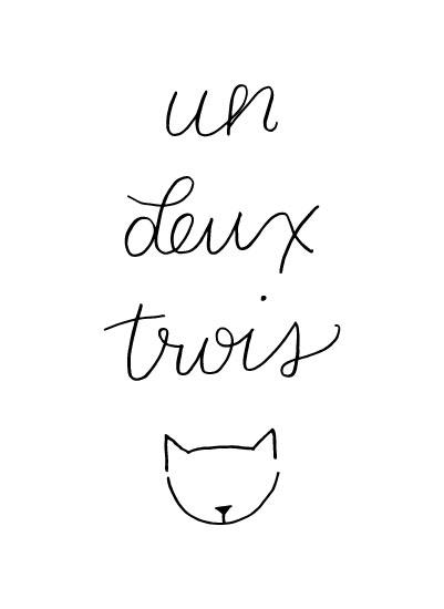 art prints - Un Deux Trois Cat by Barney Design