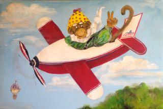 art prints - The Monkey Baron by Diane Voyentzie