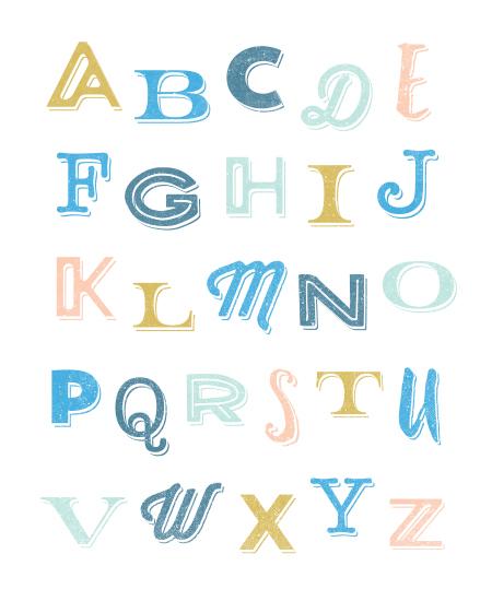 art prints - Funky Fresh Alphabet by Morgana