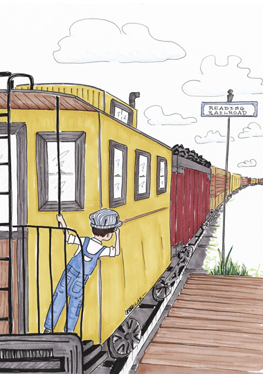 art prints - Railroad Rider by Laura Ansley Koerner