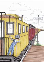 Railroad Rider by Laura Ansley Koerner