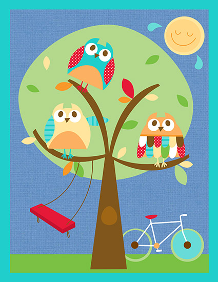 art prints - Owls are out to play by Dena Cundari