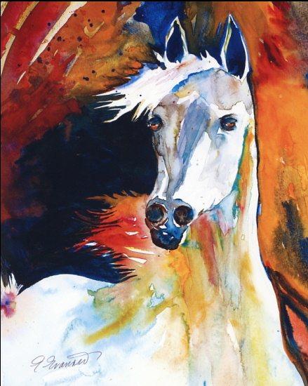 art prints - Horse Joy by Ellen Evanow Watercolors