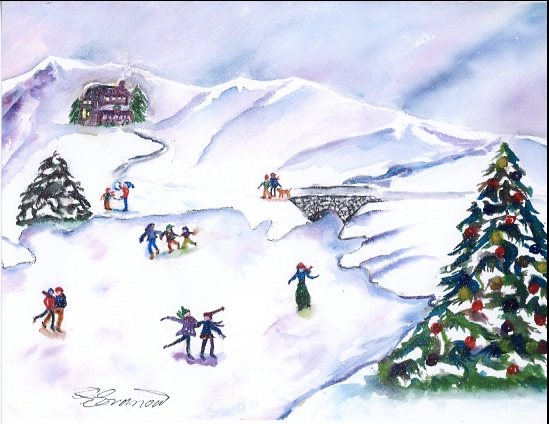 art prints - Winter Wonderland by Ellen Evanow Watercolors