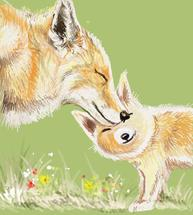 Fox Mama and Baby 1 by Shom Teoh