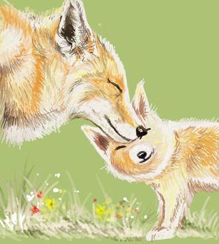 Fox Mama and Baby 1