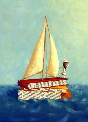 art prints - Off to Sea by Michelle Dowd