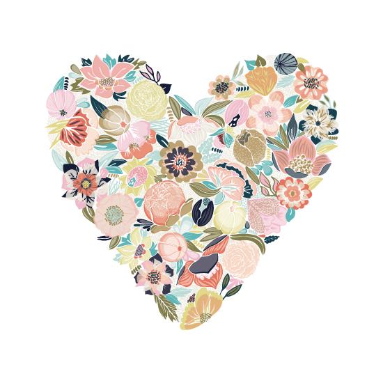 art prints - Blooming Heart by Pattern Pop
