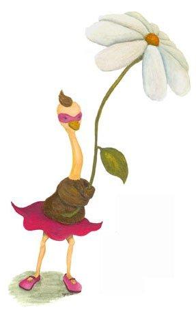 art prints - Olivia the Ostrich by Jax Bennett Art