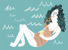 art prints - Motel Girls by Cait Brennan