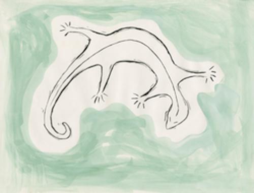 art prints - Curious Lizard by Alicia Aswat