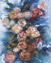 Blooming Peonies by Adrianna Vanderstelt