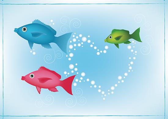 art prints - Fish family by Brandy Kesl l ABK design