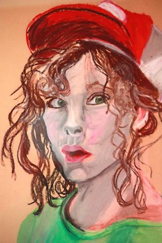 art prints - green-eyed girl by Stefanie Marques