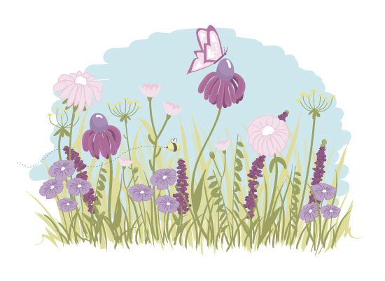 art prints - Buzzing Through Wildflowers by Allie Espinal