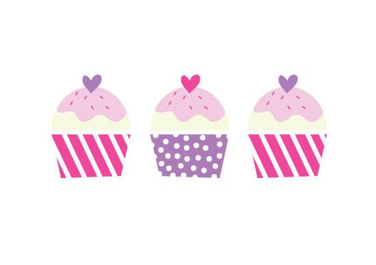 art prints - Cupcakes by Piece of Cake Prints